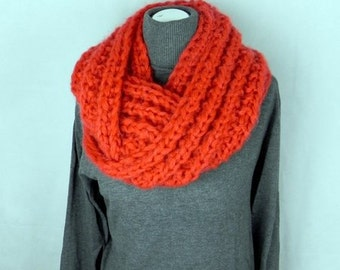 LOOP * XL * neck * easily * soft * wool * mohair * chunky knit * handmade *.