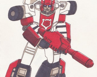 Transformers Red Alert - A4 Print