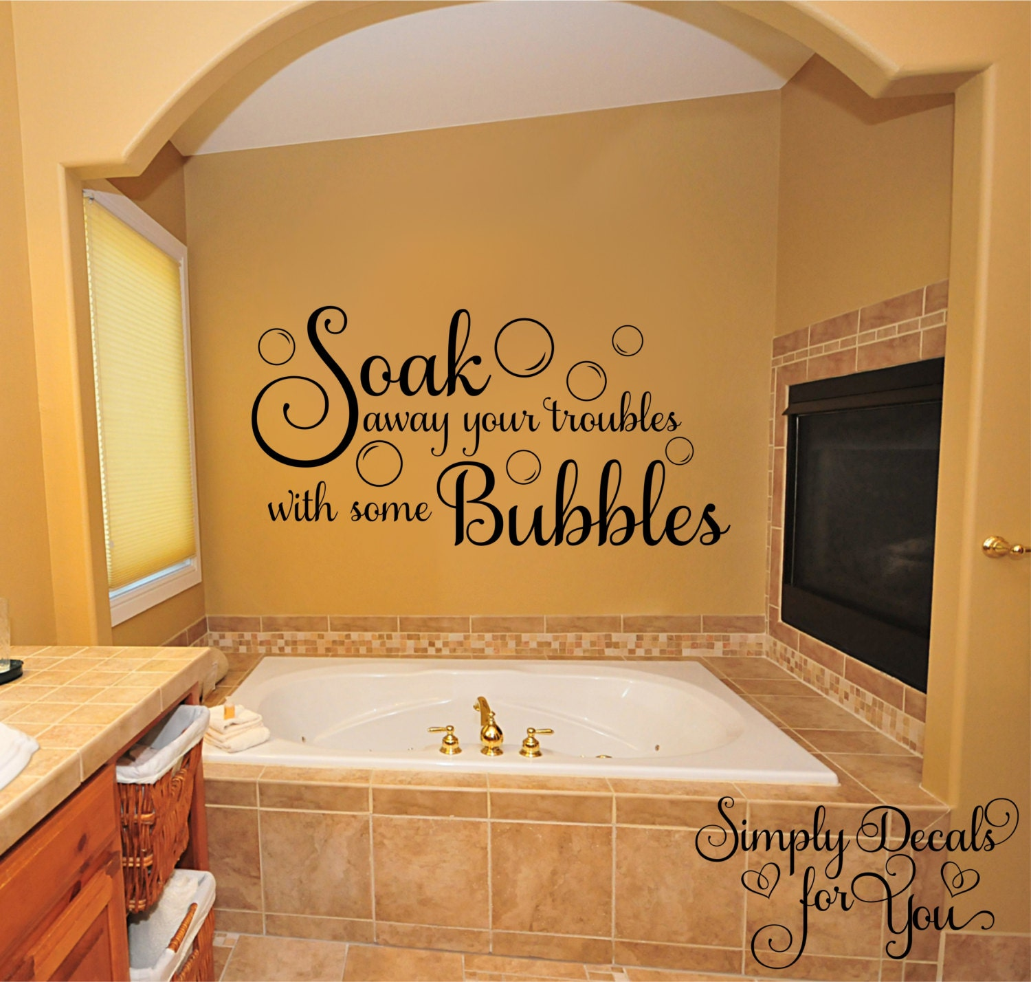 Bubble Bath Wall Decal Bathroom Decal Bathroom Sticker Wall