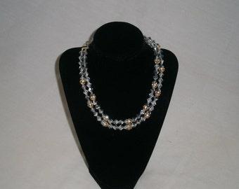 Dalsheim Silver/gold ball iridescent necklace