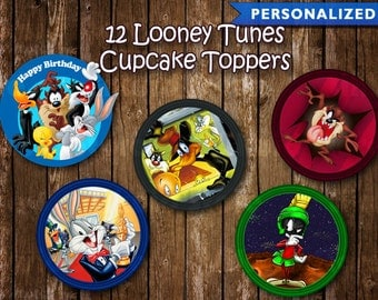 Looney Tunes Cupcake Toppers - Looney Tunes Birthday Decoration - Looney Tunes Party (Printable Digital File)