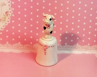 Cute cow thimble, Thimble, Novelty thimble, collector thimble