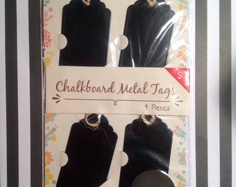 Chalkboard Metal Tags -- Target Dollar Spot; Set of Four