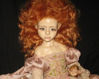 "Elf ""MUHA""porcelain jointed doll."