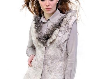 Felted grey vest