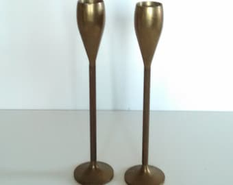 Brass Candlestick Holders Vintage Candle Holders Home Decor Retro