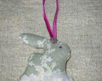 Small Lavender filled hanging rabbit decoration