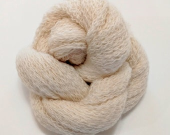 Recycled 2-Ply Laceweight 100% Cashmere in Off White  1200 yards avalible