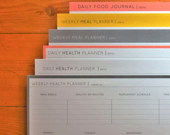 Health Professional, Planners, Healthy Habits, Meal Planner, Health Planner, Health Tracker, Food Journal, Instant Download