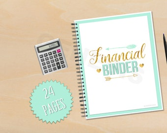 Financial Binder- Finances, Budget Binder, Budget, Printables, Financial Planner, Budget Planner
