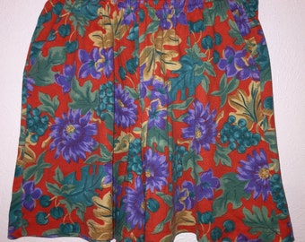 80s Javlyn Sport High Waist Floral Shorts