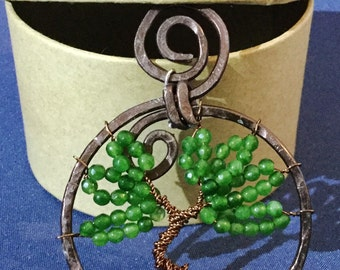 Tree of life with green jade
