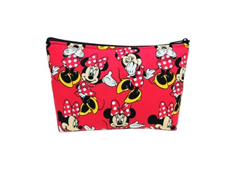 Minnie Mouse Print Go Bag // Go-Bag // Cosmetic Organizer // Travel Organizer // Disney