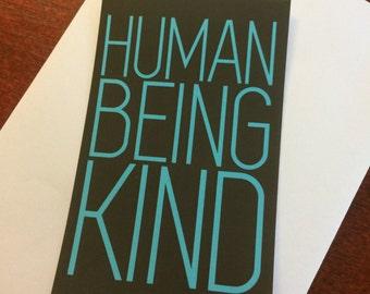 Human Being Kind Sticker