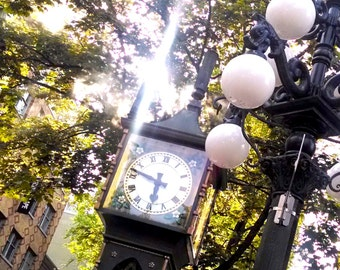 Vancouver Photography, Steam Clock