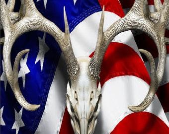American Deer Oblit Skull Camo Cornhole Wrap Bag Toss Decal Baggo Skin Sticker Wraps