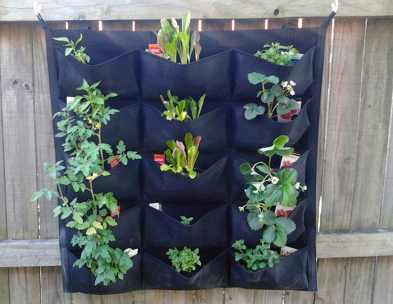 Green Vertical Garden Pocket Planters Easy By FancyGarden