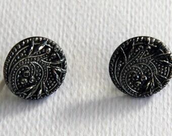 Vintage Screw Back Marquisite Earrings