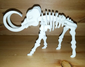 3D mammoth skeleton puzzle