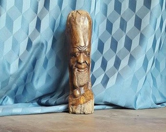 African Hand Curved Wooden Statue