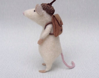 Needle Felted Mouse Sculpture