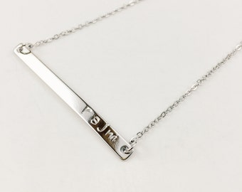Personalized Bar Necklace, Name Necklace, Gorgeous Monogram Bar Necklace, Beautiful Name Bar Necklace