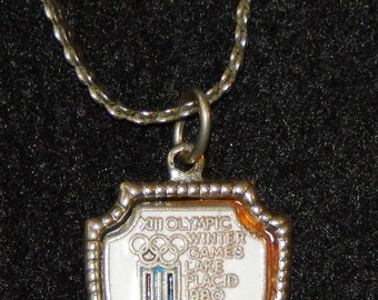 XIII Olympic Winter Games Lake Placid 1980 Necklace