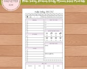 HALF-SIZE Make Today Amazing DO1P Daily Planner Insert Printable | Fits Kikki K Large & Filofax A5 Instant Download