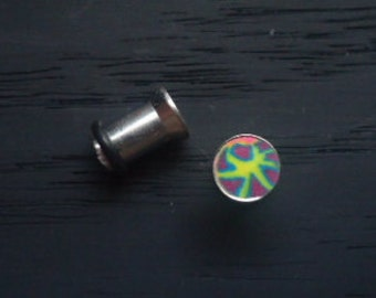 12G - 4G Psychedelic Pattern plugs