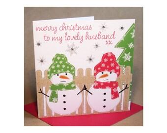 Christmas Husband Card  (jewelled)