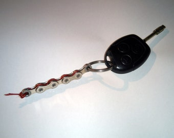 Bike chain key ring