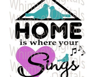 Home Is Digital Download SVG Cut File, Vinyl Cutting Design, House Decor File, for Digital Cutting Machines