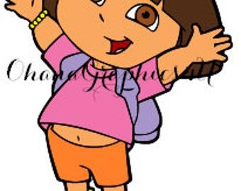 Dora the Explorer Inspired Dora SVG