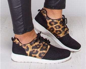 Leopard Mesh Trainers