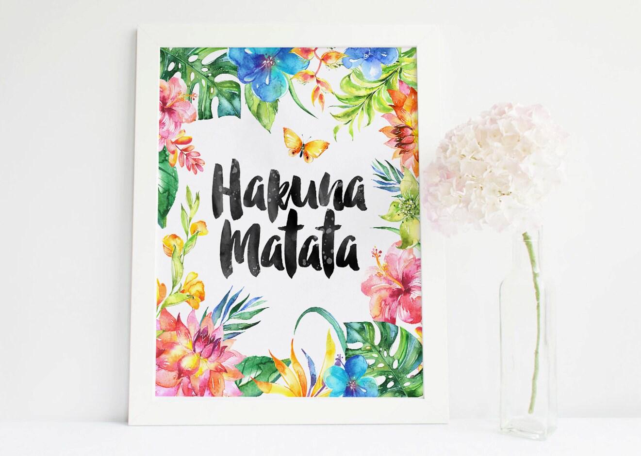 Hakuna Matata Print Printable Nursery posterWall Decor