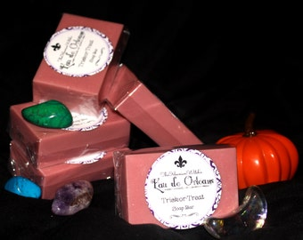 Apple Cider & Candy - Trick-or-Treat Soap Bar (Eau de Orleans) - Handmade Soap - Women's Gift - Feminine - Natural