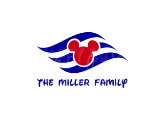 Personalized Disney Cruise / Name Line Ship World Magic Mickey Minnie Mouse Matching Family Matching Disney Iron On Decal Vinyl 4 Shirt 109
