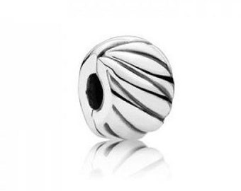 Authentic Pandora Abstract Silver Clip Charm