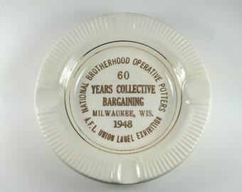 Commemorative Ashtray National Brotherhood Operative Potters 1948