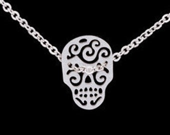 Skull chain, stainless steel necklace, gift for women and girls, necklace and earrings, necklace, chain