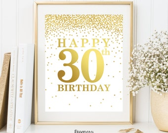 Unique 30th Decorations Related Items Etsy