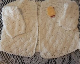 Handmade baby sweater 6 to 12 mo. Made 1960