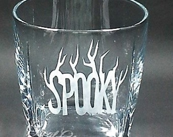 Etched Halloween Glasses, Witches Brew Glasses, 11 oz., Set of 3,Etched Rocks Glasses,Etched Old Fashioned Glasses