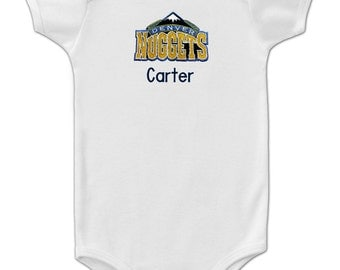 Personalized Denver Nuggets Baby Onesie