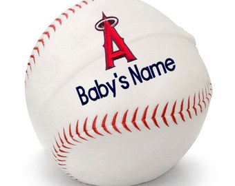 Personalized Baby Los Angeles Angels Plush Baseball