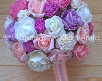 Wedding Bouquet, Bridal Bouquet, Floral Bouquet, Flower Bouquet, Alternative Bouquet, Keepsake Bouquet, Foam Flower Bouquet, Natural Balsa