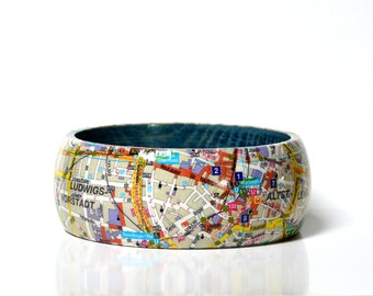 Bangles Munich map recycled downtown City