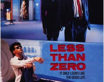 "Vintage Movie Poster  ""Less Than Zero"" 1987 Robert Downey Jr. Jami Gertz 24x36"
