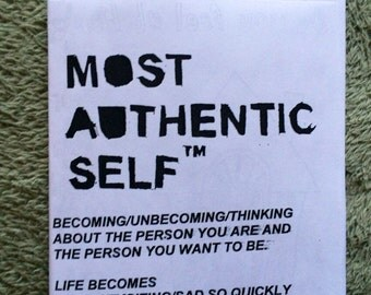MOST AUTHENTIC SELF (a zine)