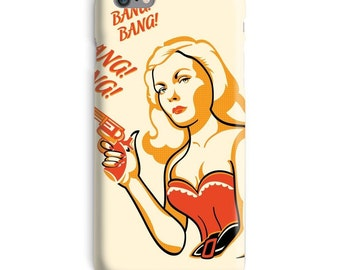 Pin-up iPhone Case, popart iphone case, bang bang iphone 6 case, women's iphone 6 case, blonde iphone 6s case, cool iphone case